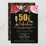 """50th Birthday Invitation for Women<br><div class=""""desc"""">(1) For further customization,  please click the """"customize further"""" link and use our design tool to modify this template. (2) If you prefer Thicker papers / Matte Finish,  you may consider to choose the Matte Paper Type. (3) If you need help  please contact me.</div>"""