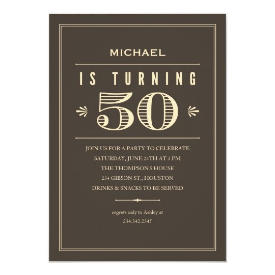 50th Birthday Invitations for Men | Zazzle