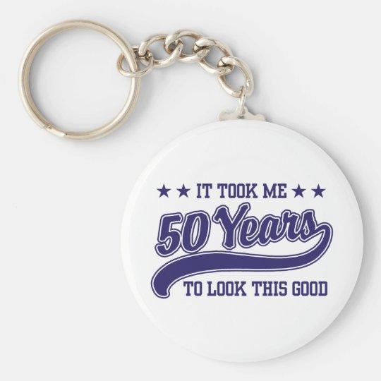 50th Birthday Keychain