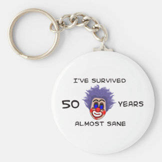50th Birthday Keychain