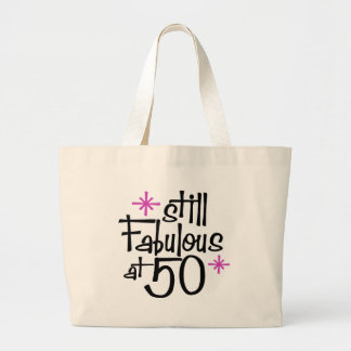 50th Birthday Large Tote Bag