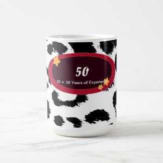 50th Birthday Leopard Fur Pattern Coffee Mug