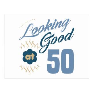 50th birthday Looking Good Postcard