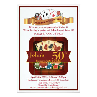 50th,Birthday Man Casino,Gambling Party,Las Vegas Card