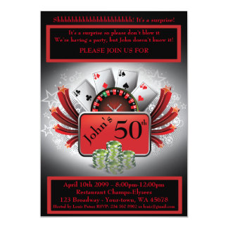 50th,Birthday Man Casino,Gambling Party,Las Vegas Card