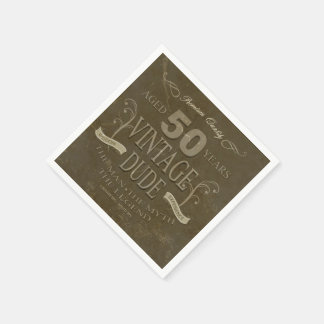 50th Birthday Mens Napkins