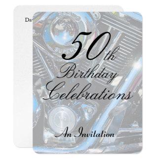 50th Birthday metallic invite