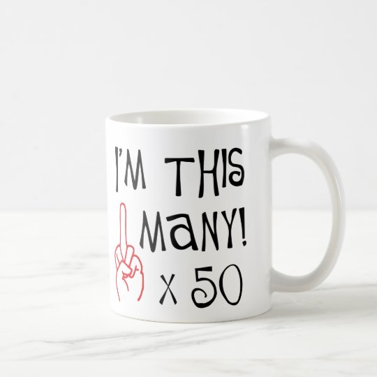50th birthday Middle Finger Salute Coffee Mug