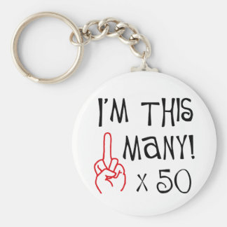 50th birthday Middle Finger Salute Key Chain