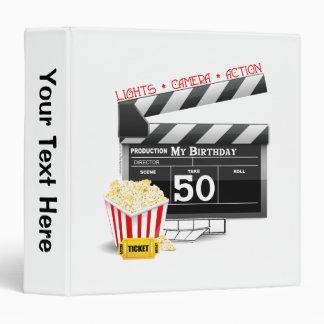 50th Birthday Movie Theme 3 Ring Binder