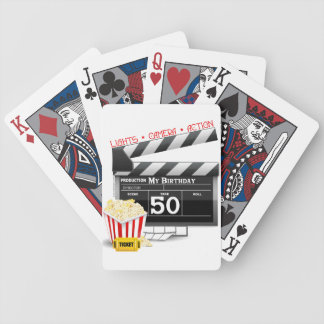 50th Birthday Movie Theme Bicycle Playing Cards