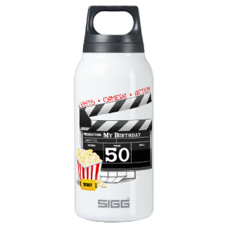50th Birthday Movie Theme Insulated Water Bottle
