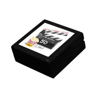 50th Birthday Movie Theme Keepsake Box