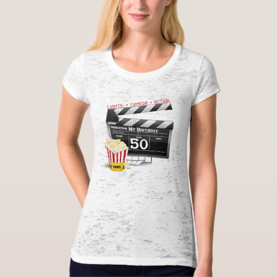 50th Birthday Movie Theme T-Shirt