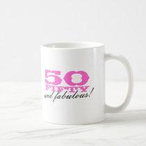 50th Birthday mug | 50 and fabulous!