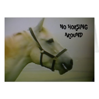 """50th BIRTHDAY"" NO HORSING AROUND Card"