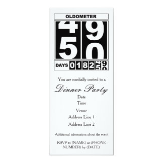 50th Birthday Oldometer Invitation