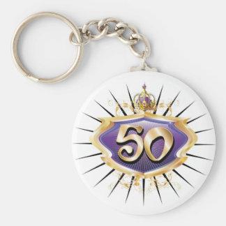50th birthday or anniversary keychain