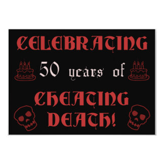 50th Birthday Over The Hill Gag Gift Card