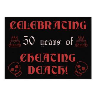 50th Birthday Over The Hill Gag Gift Custom Invite
