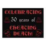 """50th Birthday Over The Hill Gag Gift 5"""" X 7"""" Invitation Card"""