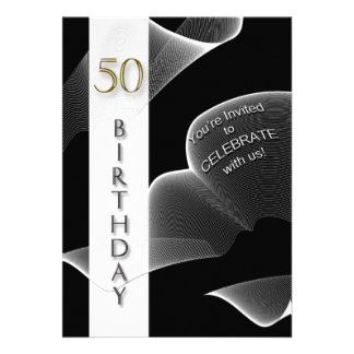 50th Birthday Party Celebration Invitations Custom Invite