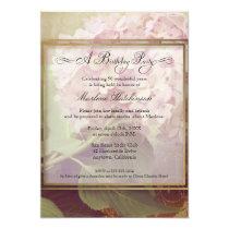 50th Birthday Party Elegant Floral Hydrangeas Invitation