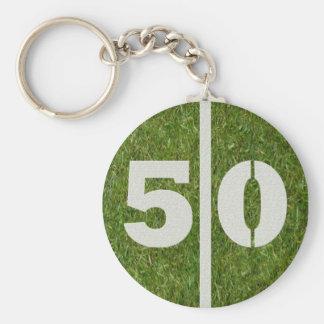 50th Birthday Party Favor Keychain