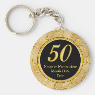 50th Birthday Party Favors 50th Anniversary Favors Keychain