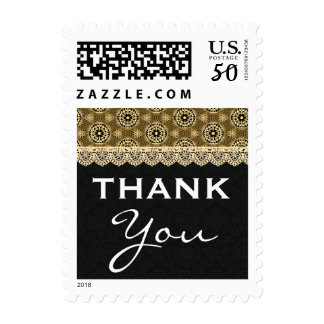 50th BIRTHDAY PARTY For Her Black and Gold H04BZ Postage