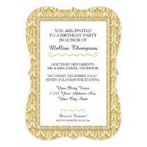 50th Birthday Party Glam Great Gatsby Style Invitation
