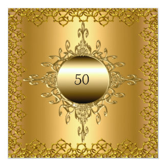 50th Birthday Party gold Card