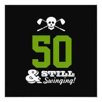 50th Birthday Party Golf - Still Swinging! Custom Invitation