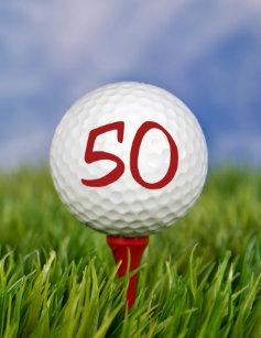 50th Birthday Party Golf Theme Invitation