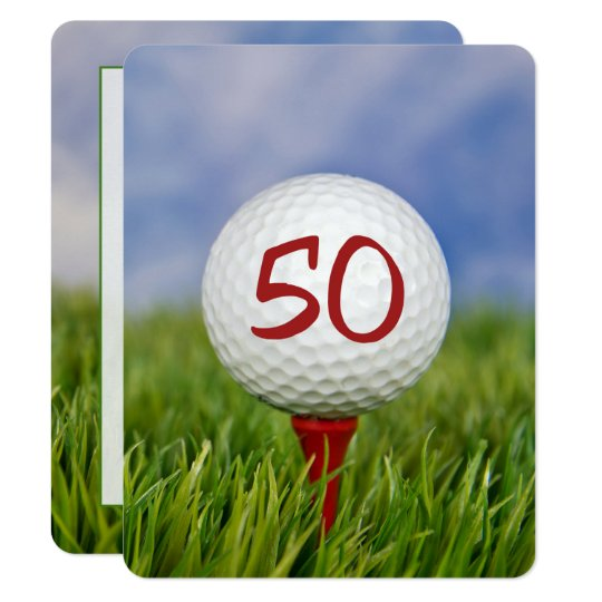 50th Birthday Party Golf Theme Invitation