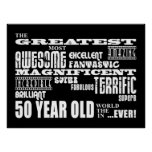 50th Birthday Party Greatest Fifty Year Old Posters