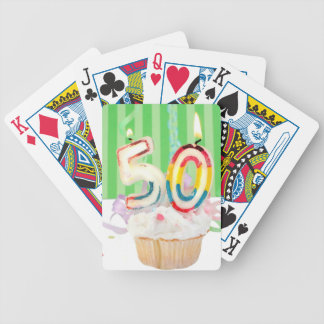 50th birthday party greeting bicycle poker cards