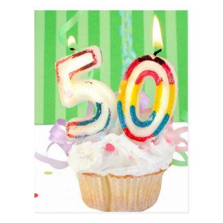 50th birthday party greeting postcard