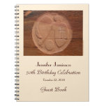 50th Birthday Party Guest Book, Angel in the Rocks Spiral Note Books