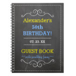 50th Birthday Party Guest Book- Spiral Note Books