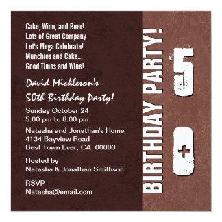 50th Birthday Party Hues of Brown V04 Card