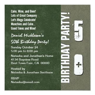 50th Birthday Party Hues of Green V06 Card