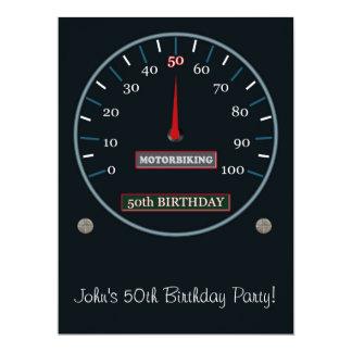 "50th Birthday Party Invitation 6.5"" X 8.75"" Invitation Card"