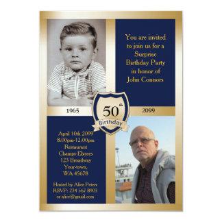 50th,Birthday Party Invitation,Add photo,any age Card