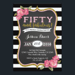 "50th Birthday Party Invitation Adult Fifty Invite<br><div class=""desc"">Matching party items available,  email seasidepapercompany@gmail.com Thanks</div>"