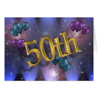 50th Birthday party invitation card