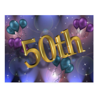50th Birthday party invitation celebration Postcard