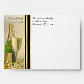 50th Birthday Party Invitation Envelopes