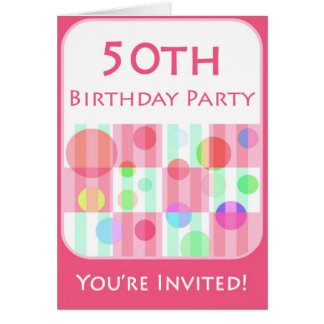 50th Birthday Party Invitation for Her