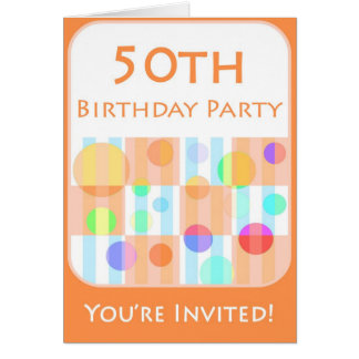 50th Birthday Party Invitation for Him